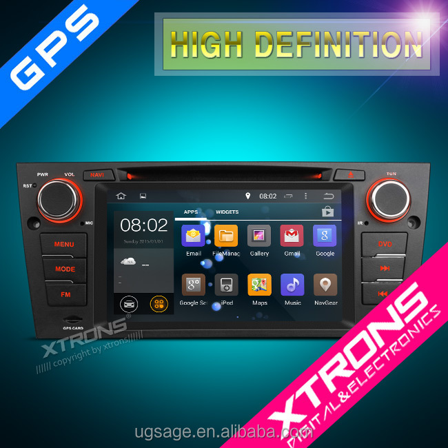 "PF7390BA-7"" HD Android 4.4.4 KitKat Quad-Core touch Screen WiFi CANbus Car Navigator DVD Player for BMW E90/91/92/93/E81/82/88"