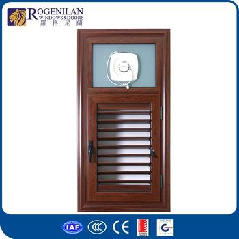 Rogenilan Hot Selling Kitchen And Bathroom Aluminum Metal Window Louver  Shutters Window With Exhaust Fan - Buy Aluminum Louver Window,Louver Window