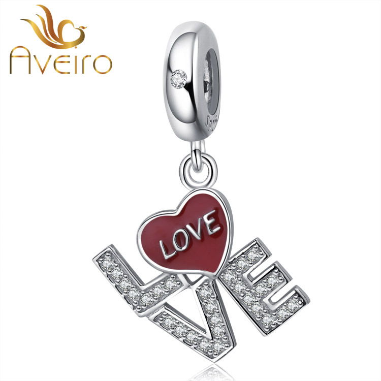 New 925 Sterling Silver I Love You Heart Religious Charms Bead For Original Bracelets Wholesale Gift Jewelry