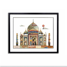 Moderne hand-made art <span class=keywords><strong>papier</strong></span> 3D gebouw <span class=keywords><strong>Taj</strong></span> <span class=keywords><strong>Mahal</strong></span> voor home decor