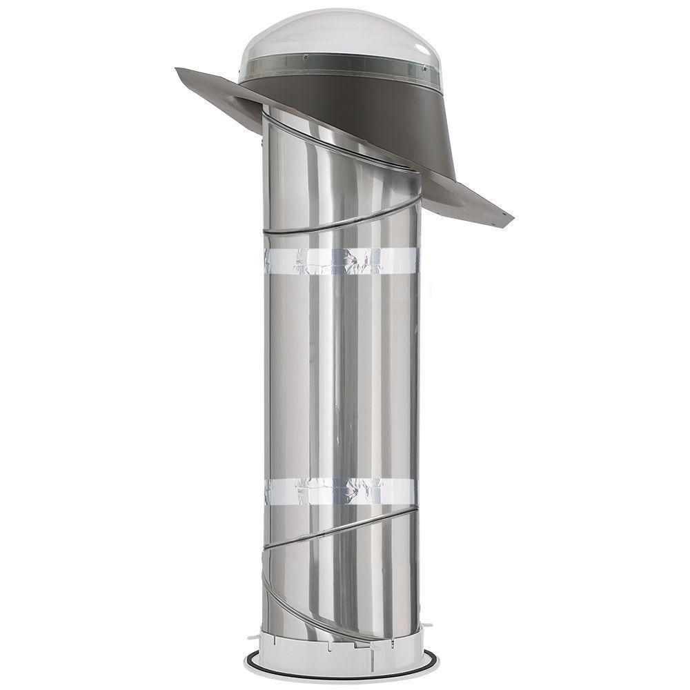 "VELUX TMR 010 0000EO Sun Tunnel, 10"" Tubular Skylight Acrylic Dome Super Energy Efficient w/Pitched Flashing & Rigid Tunnel"