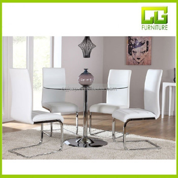 Orbit Glass And Chrome Dining Table