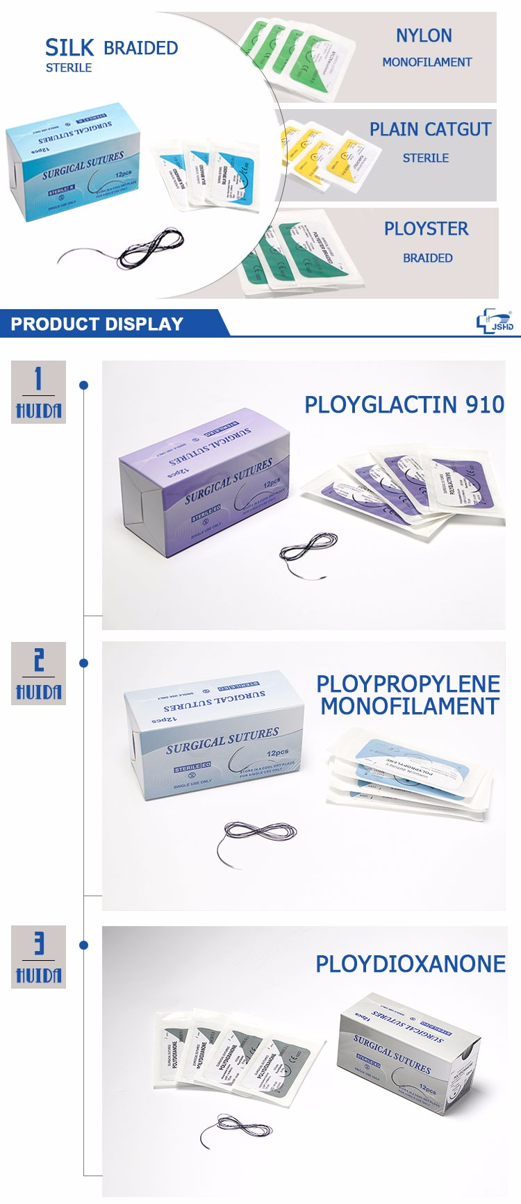 Medical Disposable Non Absorbable Surgical Nylon Suture