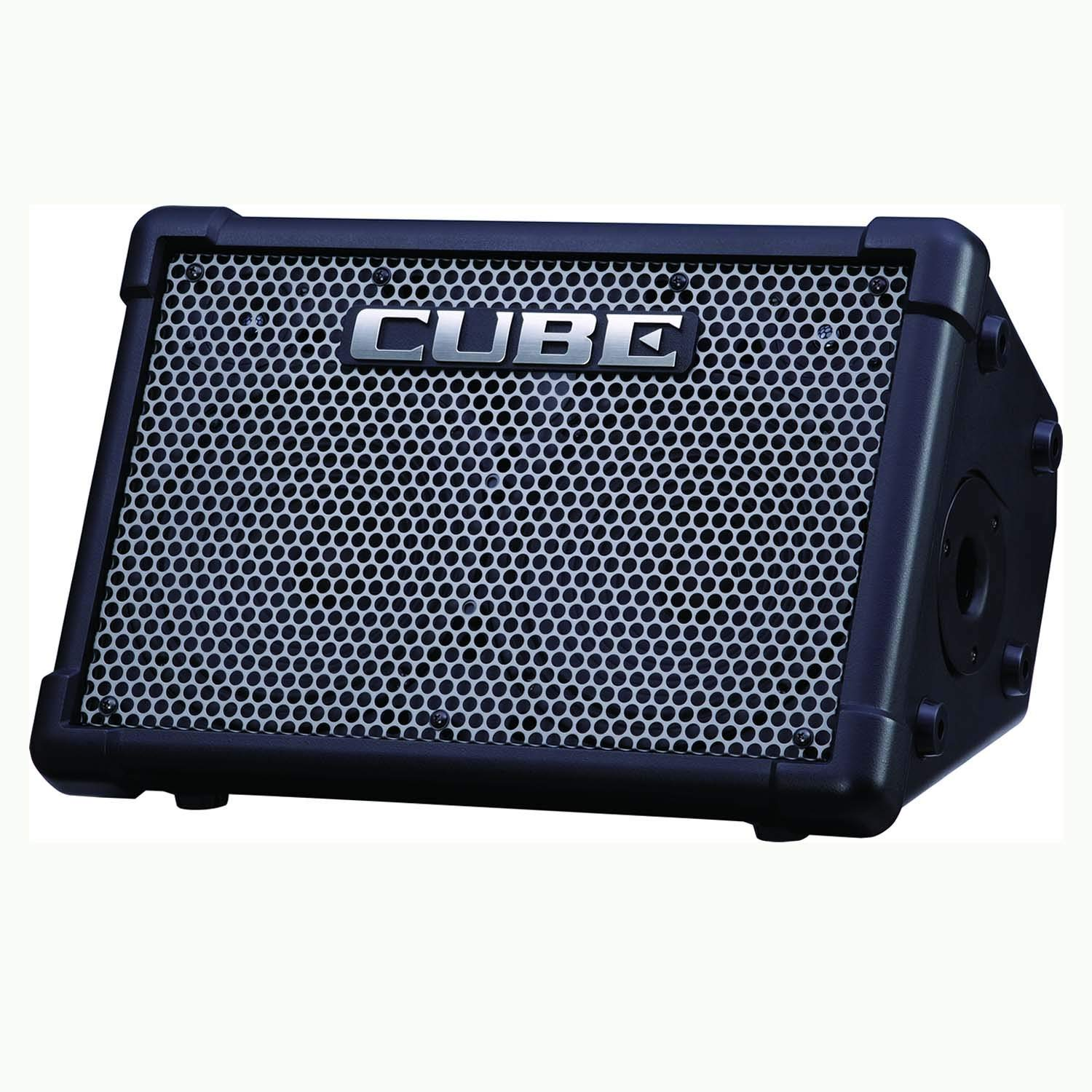 """Roland CUBE-ST-EX Cube Street EX 50-watt 4-channel 2x8"""" Battery Powered Guitar Combo Amplifier with 1 Year Free Extended Warranty"""