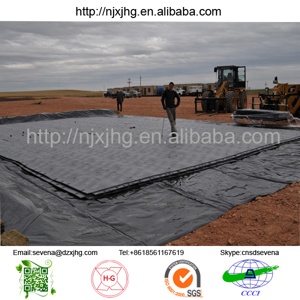 oil drilling rig mat/ engineered plastic hdpe ground protection mat/ solid construction grass protection mats