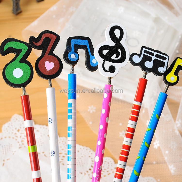 6 Color Historieta Linda Mixto Color Notas Musicales Símbolos Lápiz Hb Madera Buy 6 Color Historieta Linda Mixto Color Notas Musicales