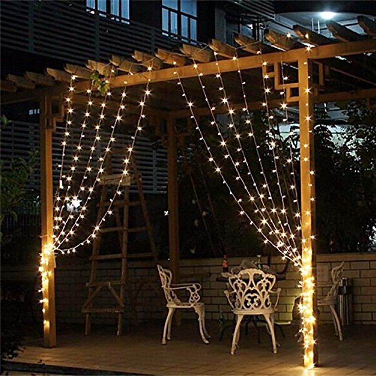 Hot sale good quality 3m*3m 300leds LED light fairy curtain wall lights Christmas wedding holiday party window decoration lights