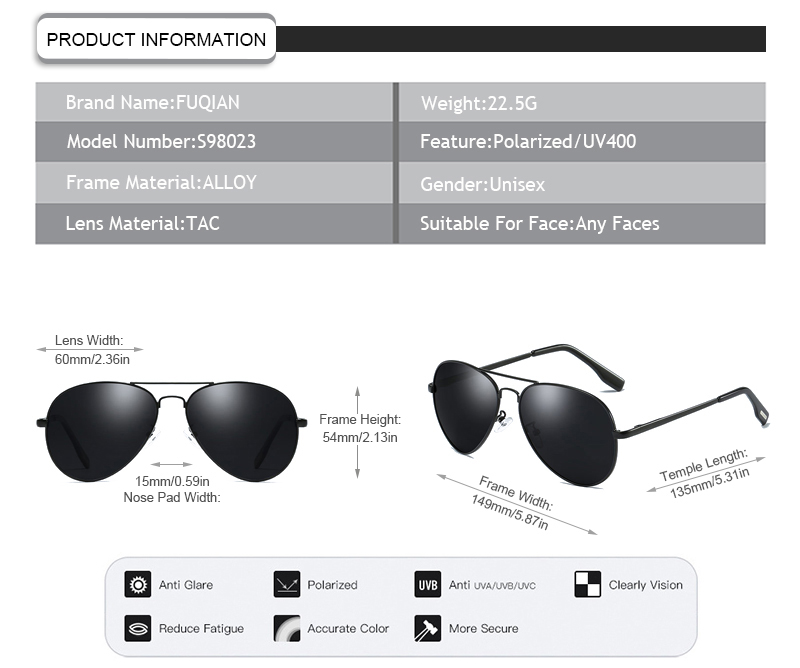 Fuqian polarized sunglasses meaning factory price for running-11