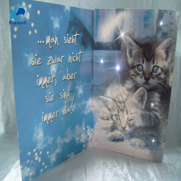 Shenzhen factory led colorful light greeting card led postcard
