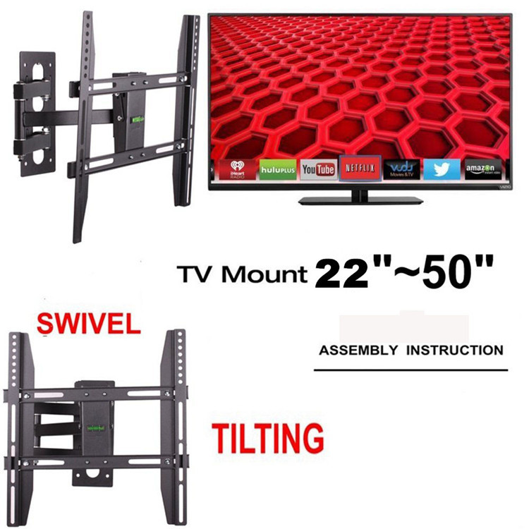 Tv Wall Mount Swivel Stand 22 50 Inch Led Lcd Plasma Flat Screen