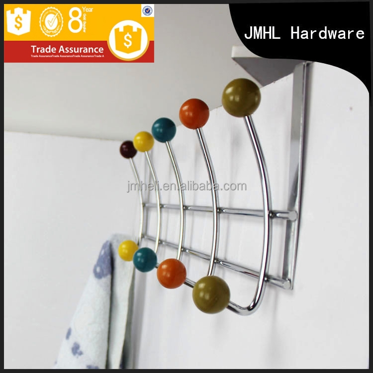Modern double removable cast iron wire coat hooks of door