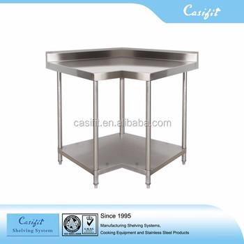 Restaurant Table Stainless Steel Corner Work Table Restaurant