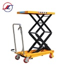 Projector Lift Table Movable Small Hydraulic Double Scissors Lift Table
