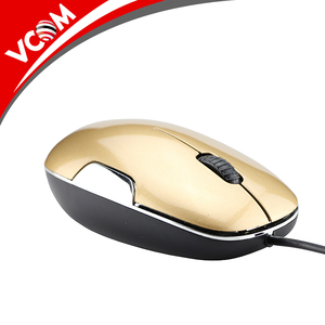 VCOM gold 3d wired computer optical mouse fcc standard