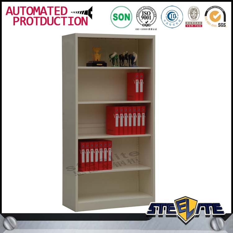 Most popular products open door steel godrej cupboard 4 shelves office book cabinet