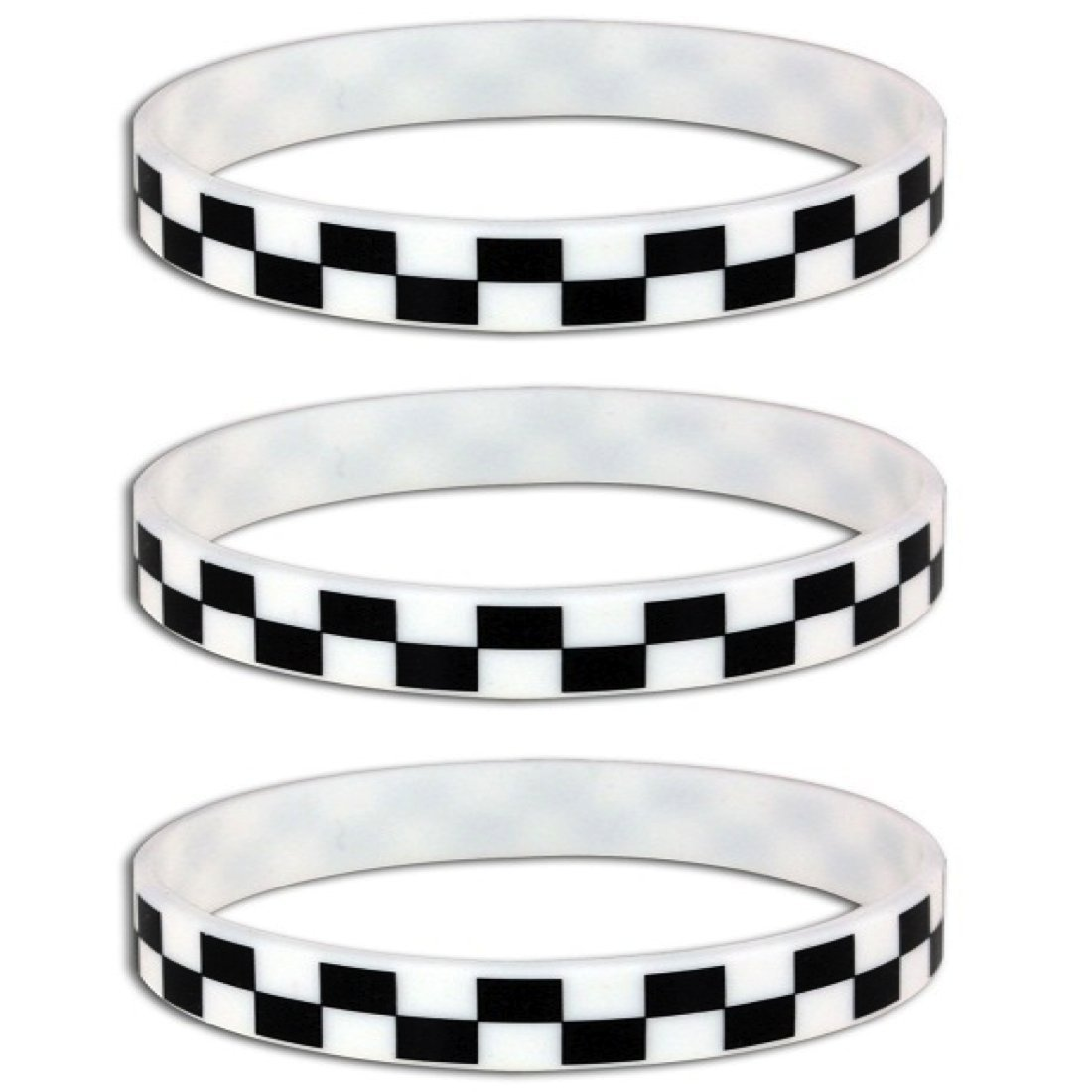 Silicone Black White Checkered Flag