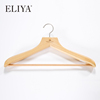"Guangzhou Supply 17"" Cherry Wood Anti-Theft Hotel Clothes Hanger For Sale"