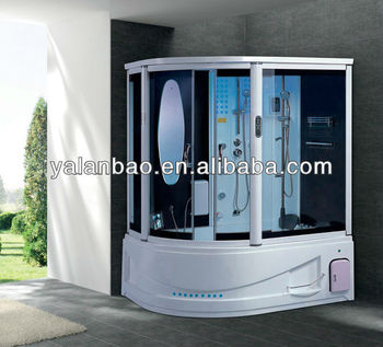 luxury steam shower room with whirlpool spa tub jetted tub shower combo - Luxury Steam Showers