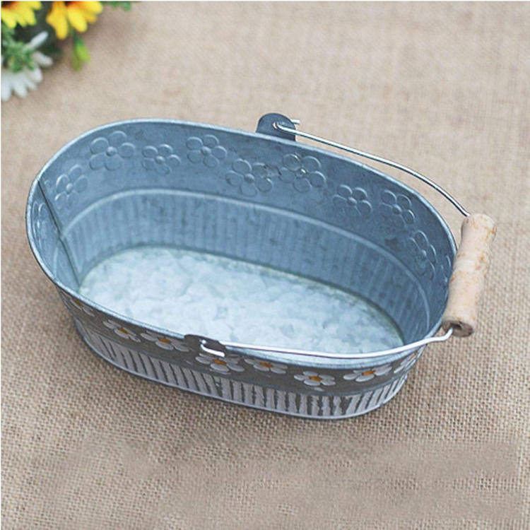 Hot sale decorative flower tin bucket