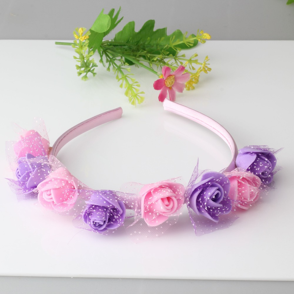 New 6 Colors Flower Hair Band Headband Baby Accessories Children S Wedding