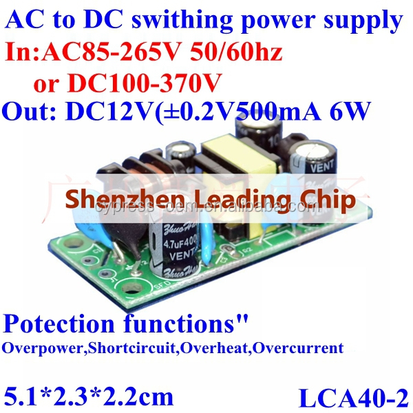AC to DC voltage transformer step down converter AC85-265V 120V 230V to DC12V 500mA 6W for switching power supply