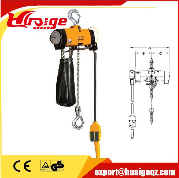 Professional engineer designing electric pneumatic air hoist