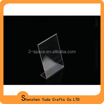 148x210mm a5 l shape tag ticket card display stand acrylic table