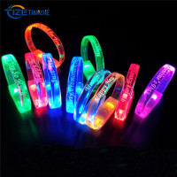 2019 Hot Sales Charming Led Light Up Flashing Bracelet Wristband for Concerts Party