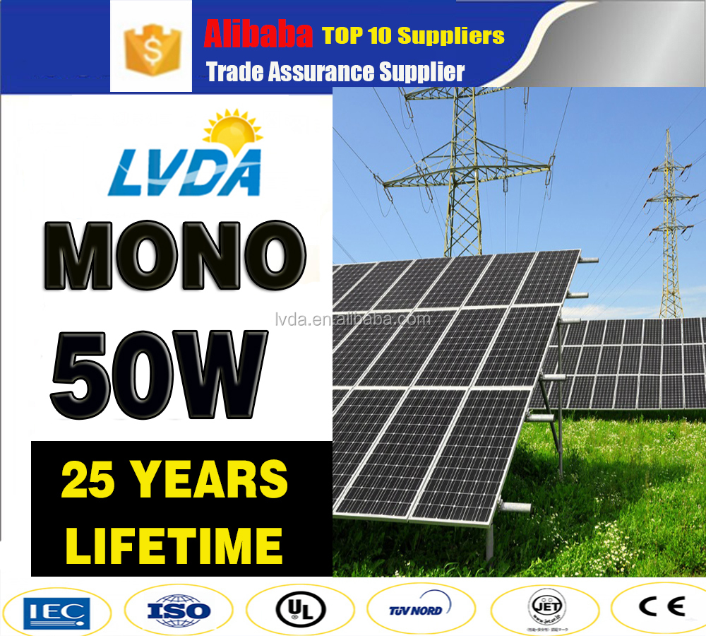 cheap price 50w mono solar panel factory directly sale