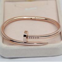 alloy metal nail shape simple female male bracelet wholesale cheap price elegant bangles blank