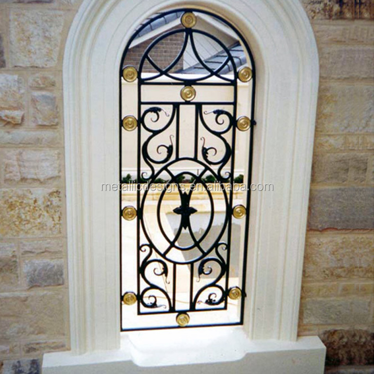 Top Round Steel Window Grill Design
