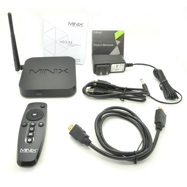 HOT Selling MINIX NEO X6 Android TV Box Amlogic S805 MINIX X6 Quad Core Android 4.4 Smart TV Stick