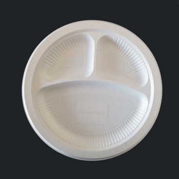 10u0027u0027 3 Compartment Biodegradable Plastic Plate & 10u0027u0027 3 Compartment Biodegradable Plastic Plate - Buy 3 Compartment ...