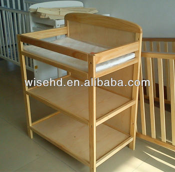 Good (W BB 95) Pine Wood Change Table For Baby