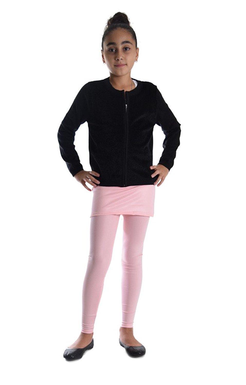 c456f22ebe521 Get Quotations · Dinamit Jeans Girls Shiny Metallic Color Elastic Skirted  Leggings
