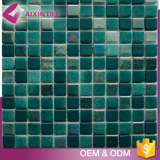 Easy Installation Green Enamal Gl Glow In The Dark Mosaic Tile
