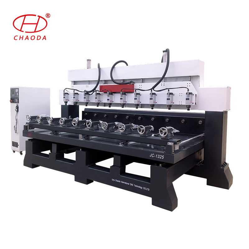 3 axis 4/6/8 multi heads 3D panel wood cnc  carving machine