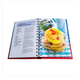 Offset printing hidden spiral bound CMYK printed cookbook, custom cheap cookbook/cook book / recipe book