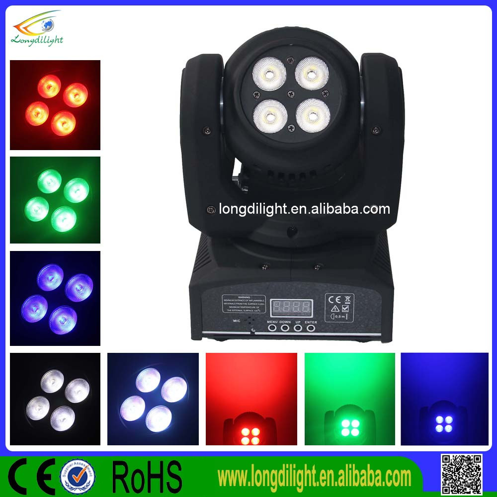 8 pcs 8W rgbw 4in1 mini teste mobili beam led double sided moving light