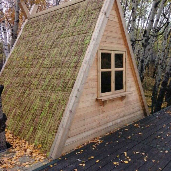 Long Lifespan Water Reed Roof Synthetic Thatched For