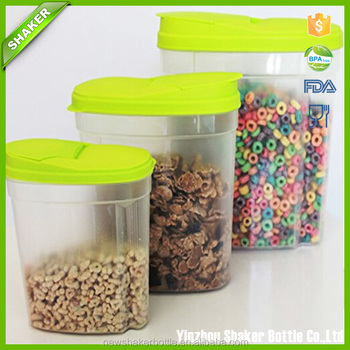 Home Decorative Kitchen Cereal Pasta Snack Organizer Pourable Storage Containers