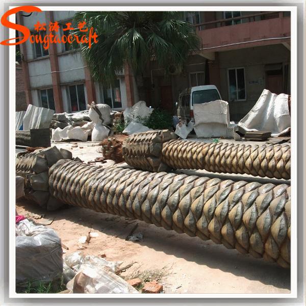 Chinese wholesale fake fiberglass plastic large coconut