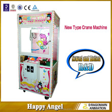 coin operated Happy Angel toy claw crane game machine toy catcher toy claw machine