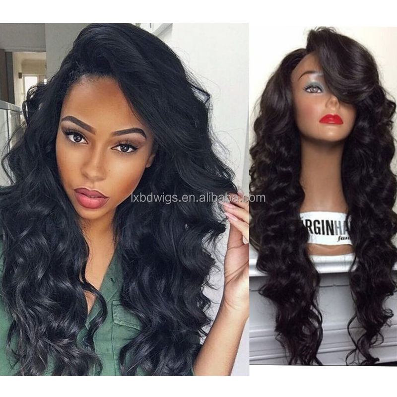 2017 New Designed Virgin Indian Women Hair Wig Body Wave Cheap Price Glueless Full Lace Human Hair Wig For Black Women
