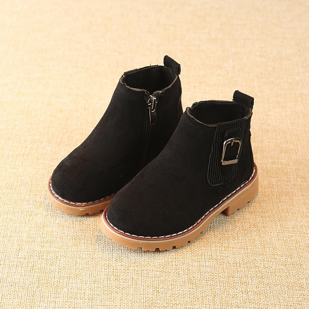 Kids Ankle Boots Children Girls Boys