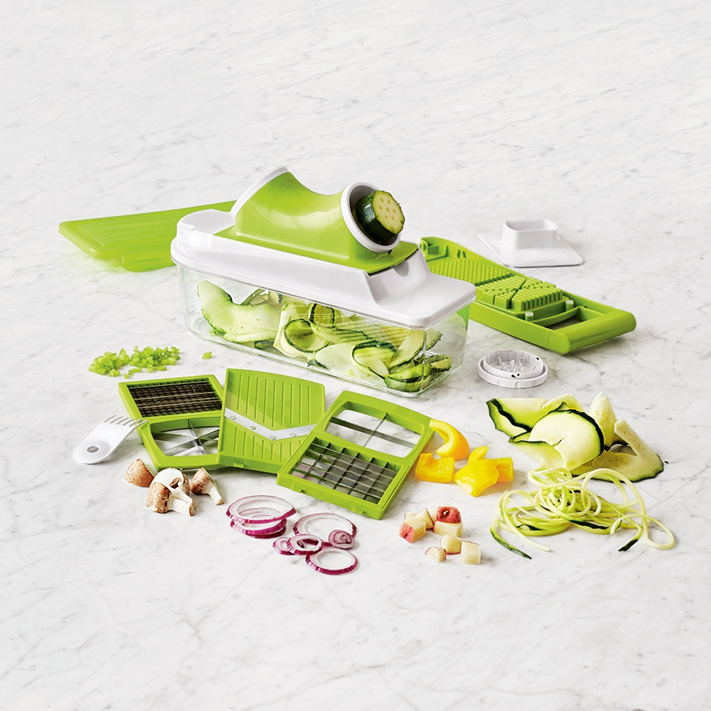 Free sample Kitchen master multi 2 in 1 <strong>spiralizer</strong> vegetable adjustable <strong>cutter</strong> plus nice chopper slicer dicer