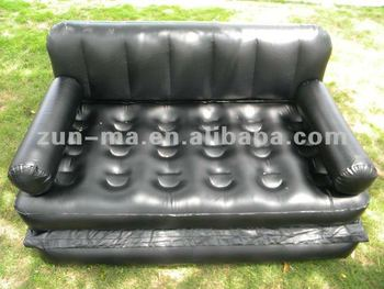 China Two Seater Plastic Inflatable 5 In 1 Air Sofas Bed High Quality Futon