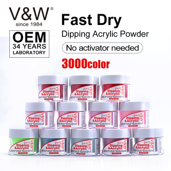 VW Factory Custom 1oz Dipping Powder System For Nail Beauty Fast Dry Dip Chrome Powder Nails 3 In 1 Dipping Nail Polish