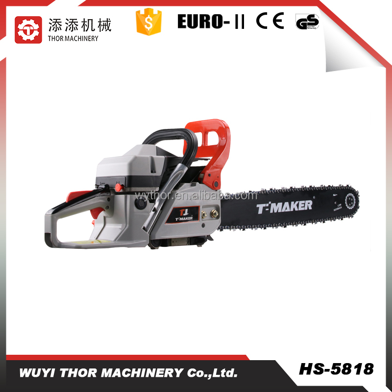 58cc fast supplier small gas chainsaw for sale 5818