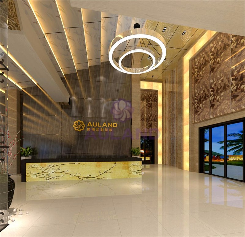 Auland Best Price Aluminum composite Interior indoor Wall Decorative ACP Hot Sale 3D Wall Panels